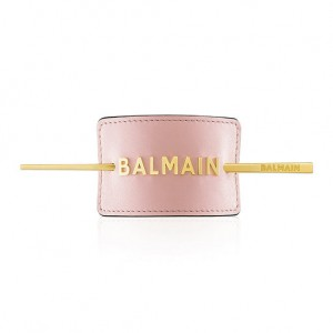 Limited Edition Pastel Pink Hair Barrette with golden logo SS20